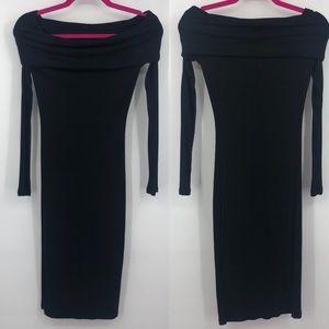 Forever 21 Long Sleeve BodyCon Little Black Dress